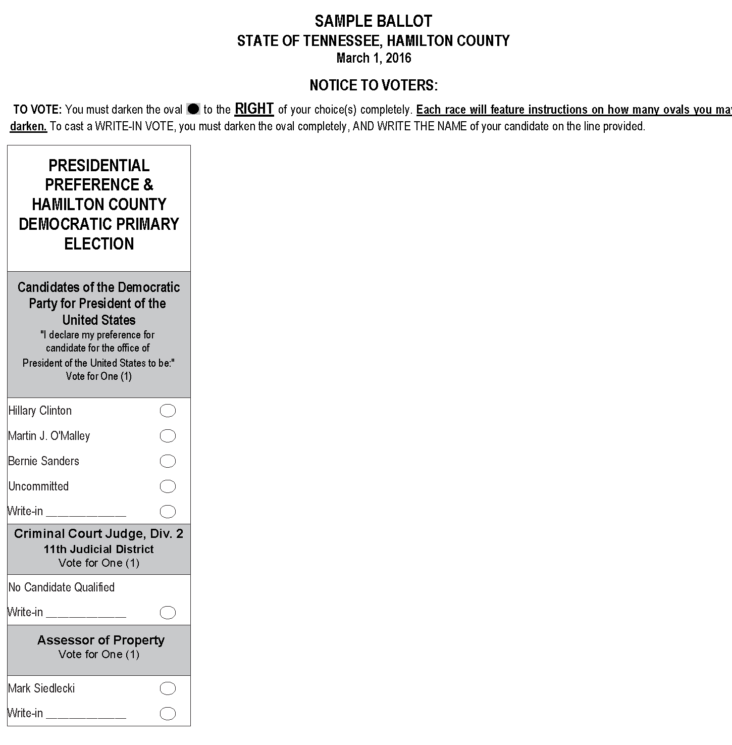 Election Commission for Hamilton County, TN > Election Archives > 2016