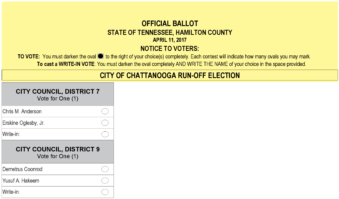 View the Sample Ballot